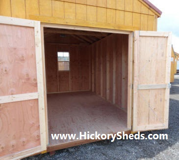 Old Hickory Sheds Utility double doors