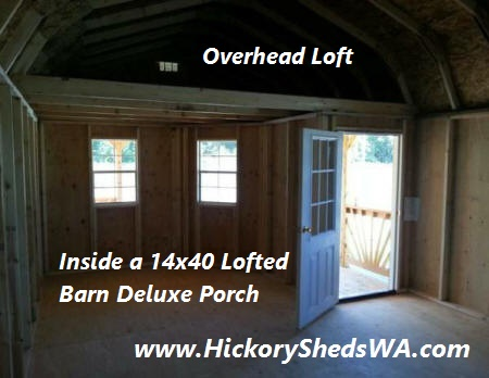 Old Hickory Sheds Deluxe Porch Nor Cal