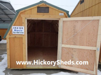 Old Hickory Sheds 8x12 Barn Inside