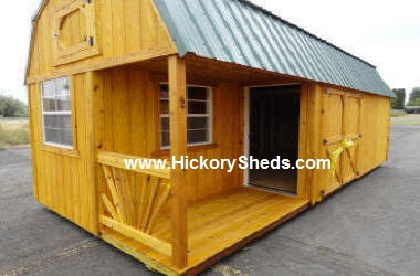 Old Hickory Sheds Lofted Barn Left Side Porch #3