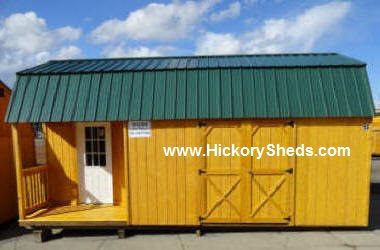 Old Hickory Sheds Lofted Barn Left Side Porch #1