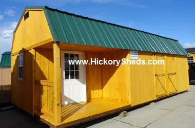Old Hickory Sheds Lofted Barn Left Side Porch #2